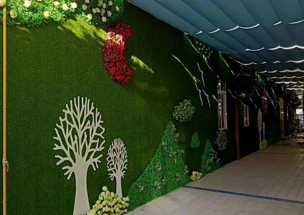 通道仿真植物墙
