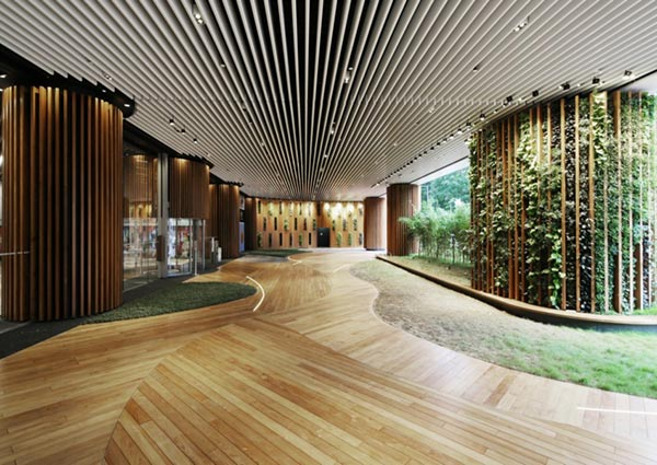 办公楼植物墙